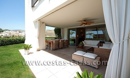 For Sale: Contemporary Luxury First-line Golf Apartment in the Marbella – Benahavís – Estepona Triangle 0