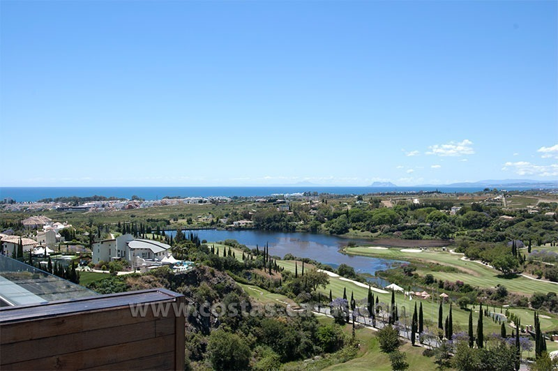 For Holiday Rent: Brand New Modern Luxury Apartment with Fabulous Sea Views, Golf Resort, between Marbella and Estepona