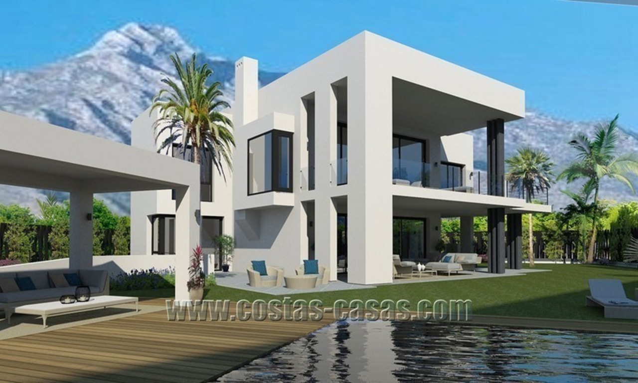 Contemporary New Villa for Sale on The Golden Mile in Marbella 1