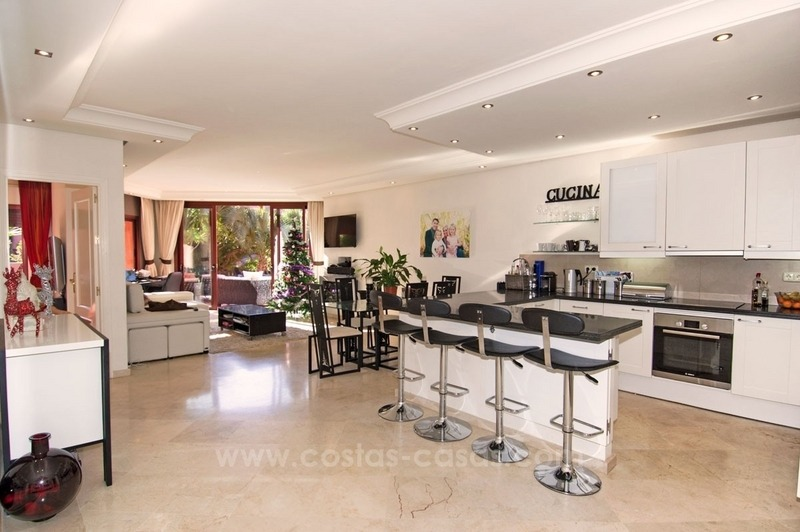 Luxury garden apartment for sale, frontline beach complex, New Golden Mile, Marbella - Estepona