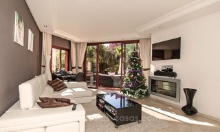 Luxury garden apartment for sale, frontline beach complex, New Golden Mile, Marbella - Estepona 1