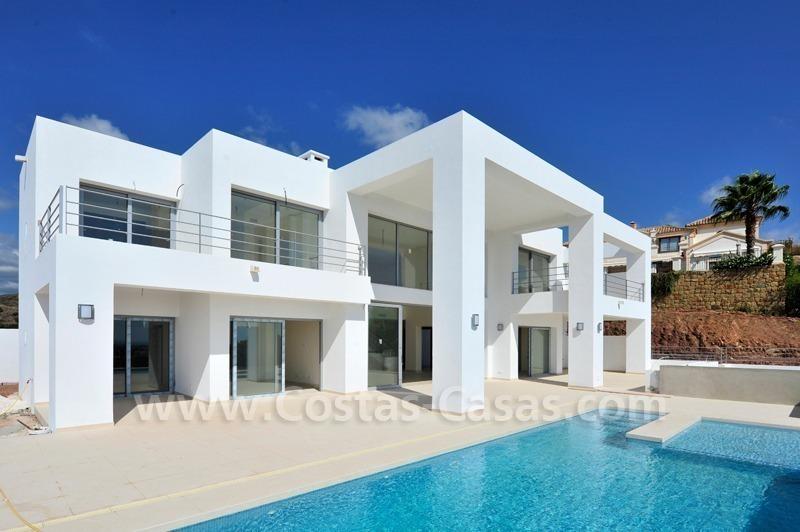 Luxury modern style villas for sale marbella benahavis
