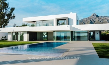 For sale in Marbella on the Golden Mile: New Modern Villa