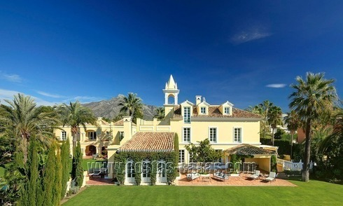 Classical chateau styled mansion villa for sale in Nueva Andalucía – Puerto Banus – Marbella