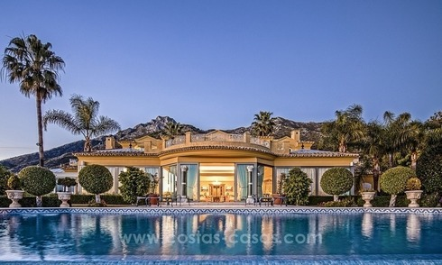 Palatial mansion for sale in exclusive urbanization of Sierra Blanca, Marbella