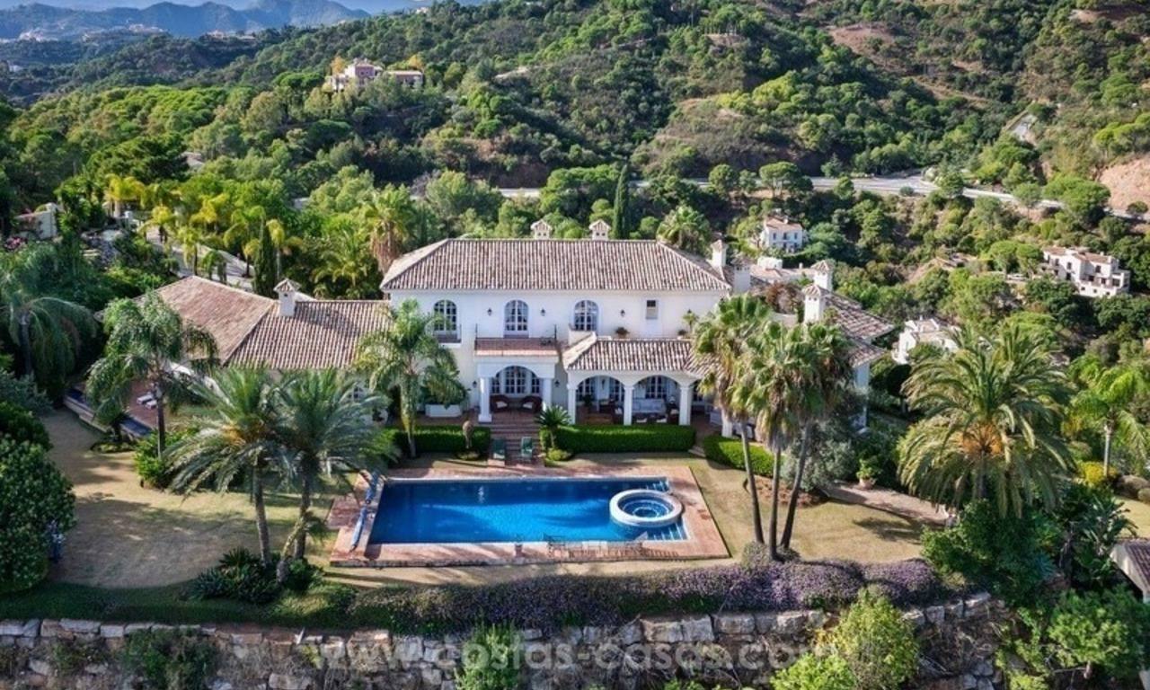 For Sale: A luxurious but elegant classical villa with the best views in El Madroñal - Benahavis 1