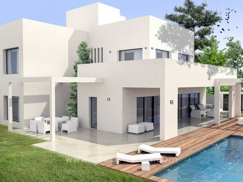 Newly built modern style villas for sale, beachside San Pedro Marbella