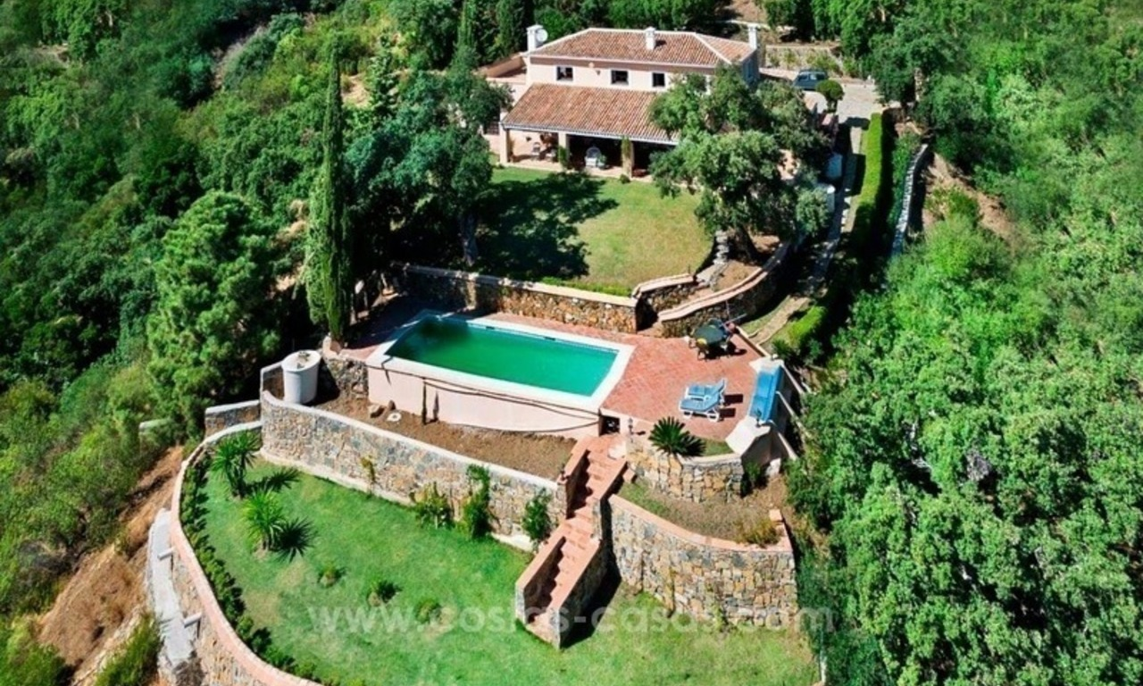 Villa for sale on a large plot in El Madroñal, Benahavis - Marbella