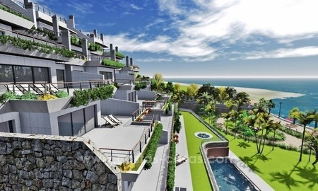 New luxury modern beachfront apartments for sale in Estepona