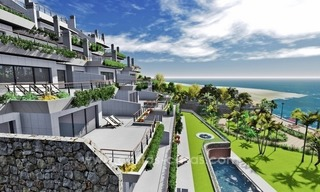 New luxury modern beachfront apartments for sale in Estepona 0