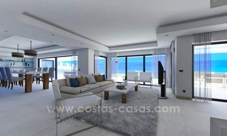 New luxury modern beachfront apartments for sale in Estepona 3