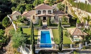 Contemporary villa for sale with classical architectural references, El Madroñal, Benahavis - Marbella 0