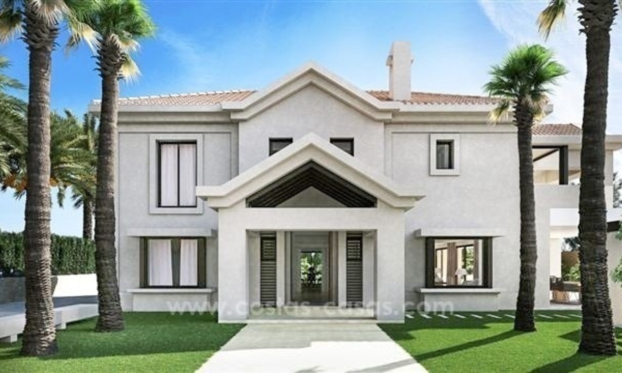 Contemporary style new villa for sale in Marbella Club on the Golden Mile 2