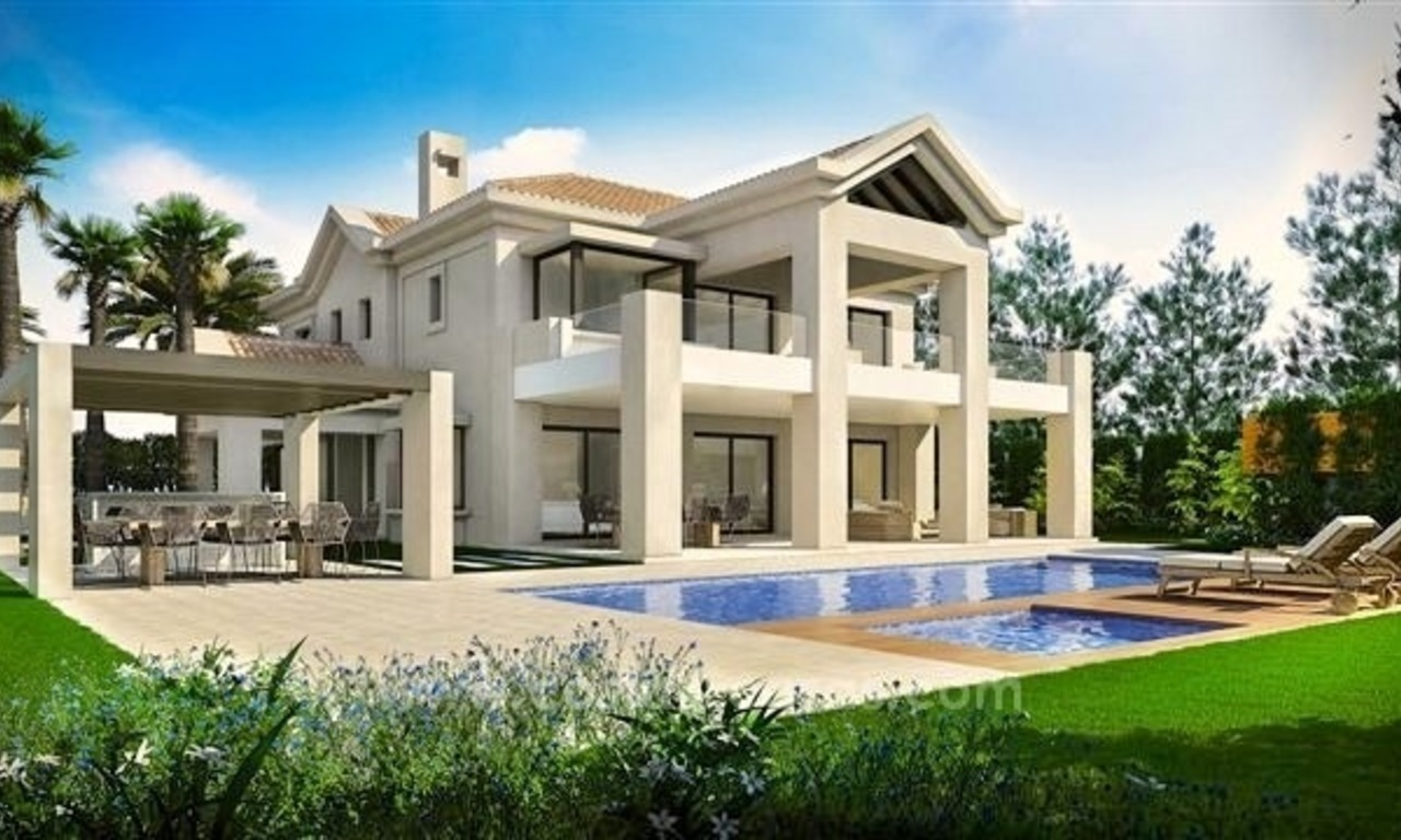 Contemporary style new villa for sale in Marbella Club on the Golden Mile 1