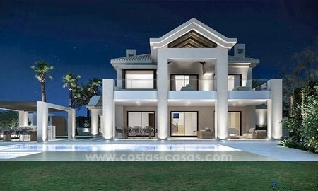 Contemporary style new villa for sale in Marbella Club on the Golden Mile