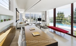 For Sale in Nueva Andalucia, Marbella: Designer Villa with panoramic golf, mountain and sea views 6