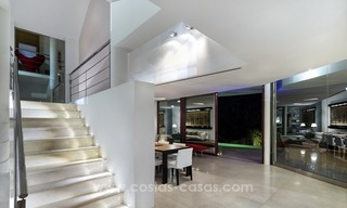 For Sale in Nueva Andalucia, Marbella: Designer Villa with panoramic golf, mountain and sea views 11