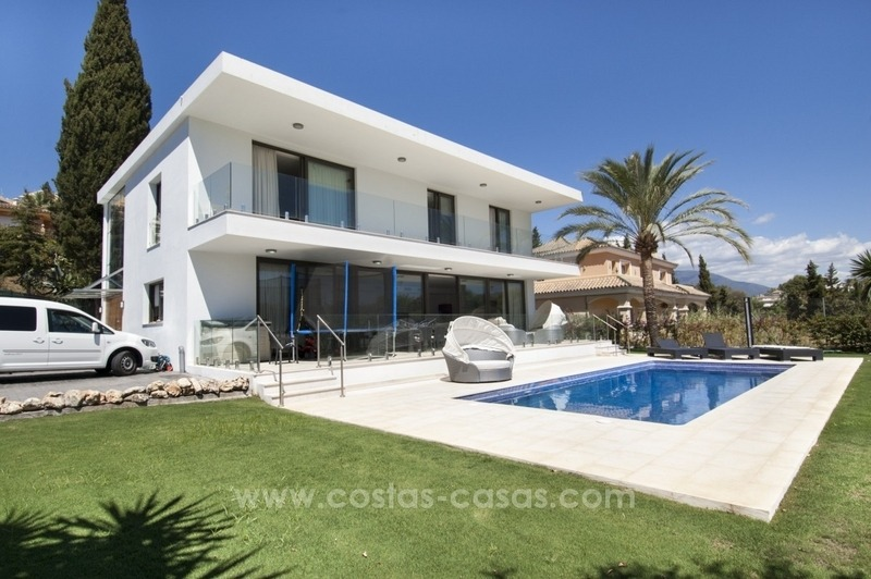 Brand new modern villa for sale in Nueva Andalucia, Marbella 0