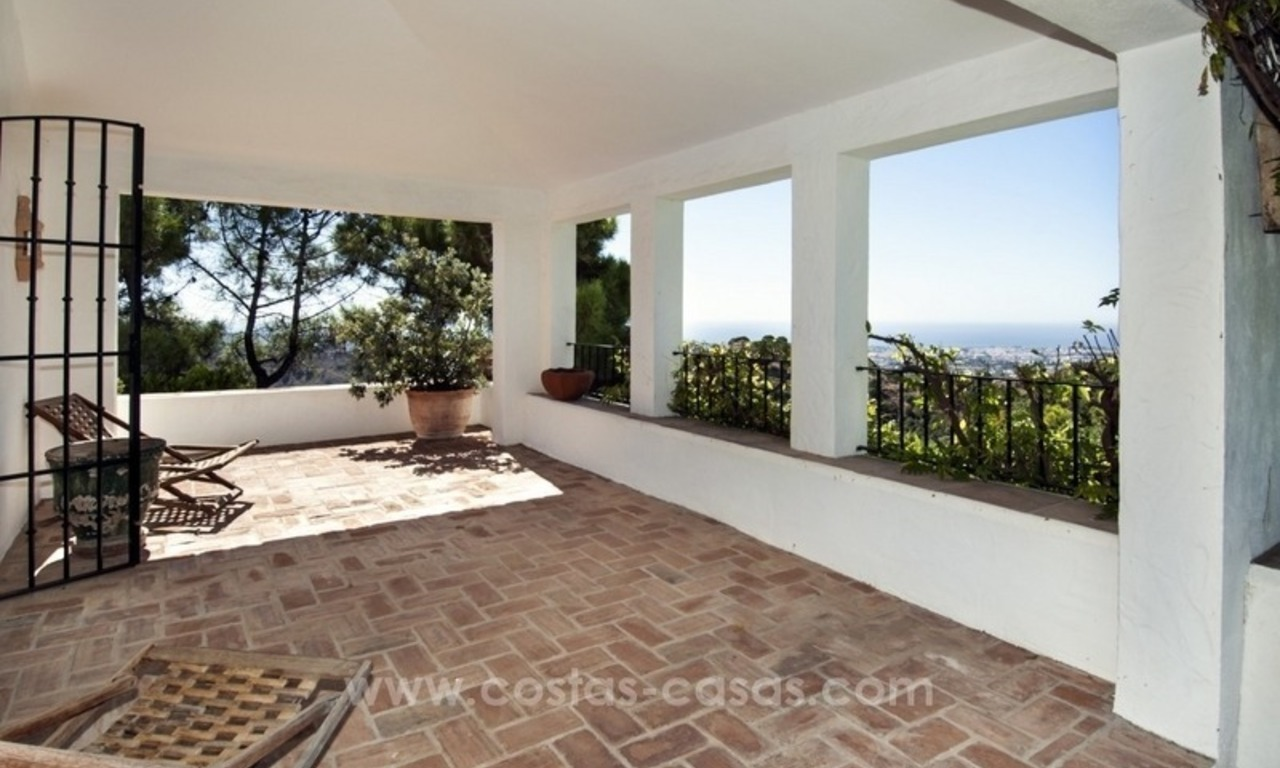 Superb and elegant Provence Charm villa for sale in exclusive El Madroñal, Benahavis - Marbella, with exceptional sea views 15