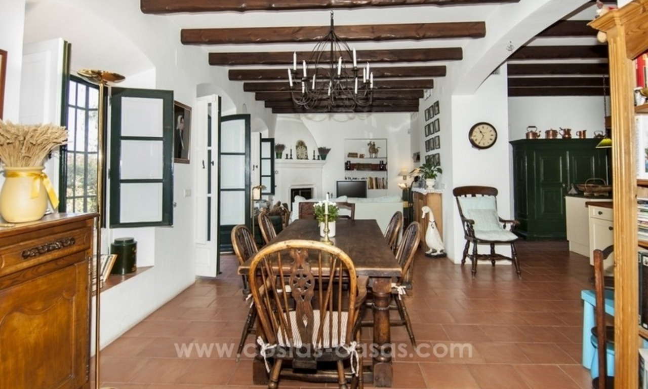 Superb and elegant Provence Charm villa for sale in exclusive El Madroñal, Benahavis - Marbella, with exceptional sea views 10