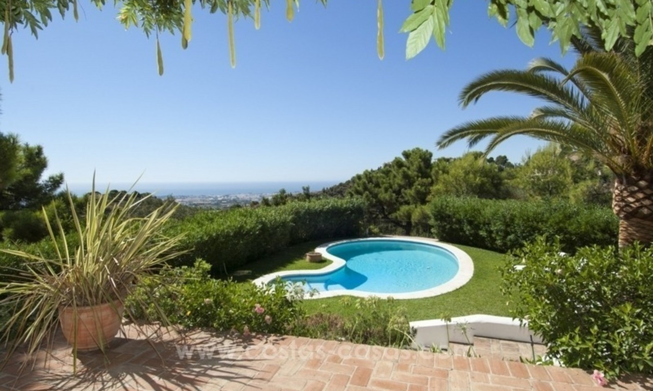 Superb and elegant Provence Charm villa for sale in exclusive El Madroñal, Benahavis - Marbella, with exceptional sea views 17