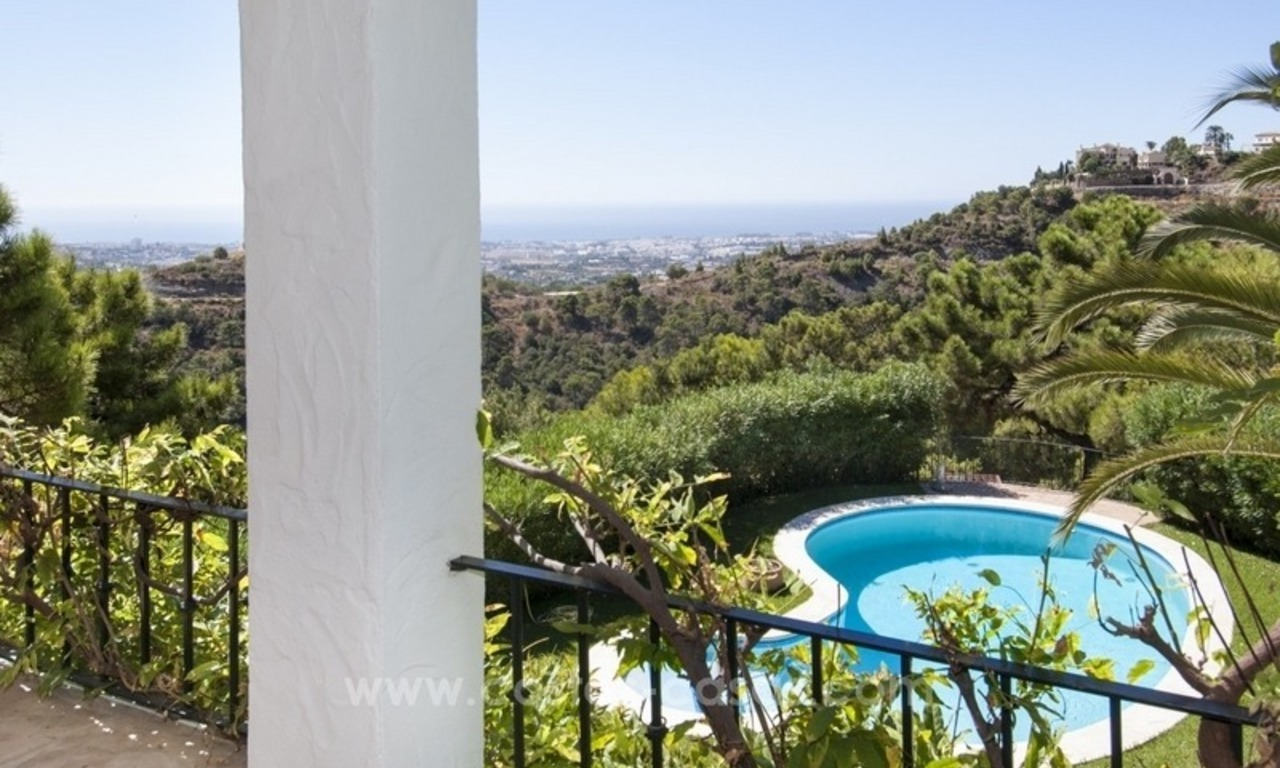 Superb and elegant Provence Charm villa for sale in exclusive El Madroñal, Benahavis - Marbella, with exceptional sea views 16