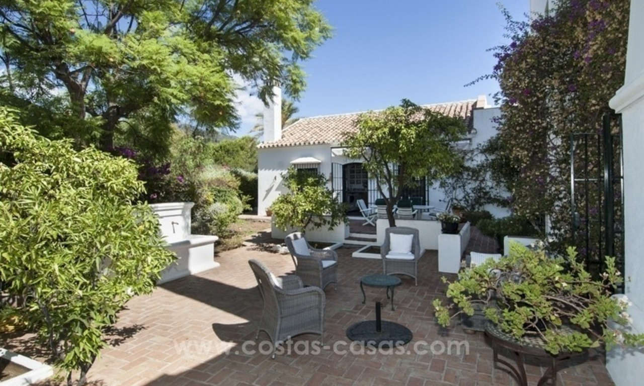 Superb and elegant Provence Charm villa for sale in exclusive El Madroñal, Benahavis - Marbella, with exceptional sea views 20
