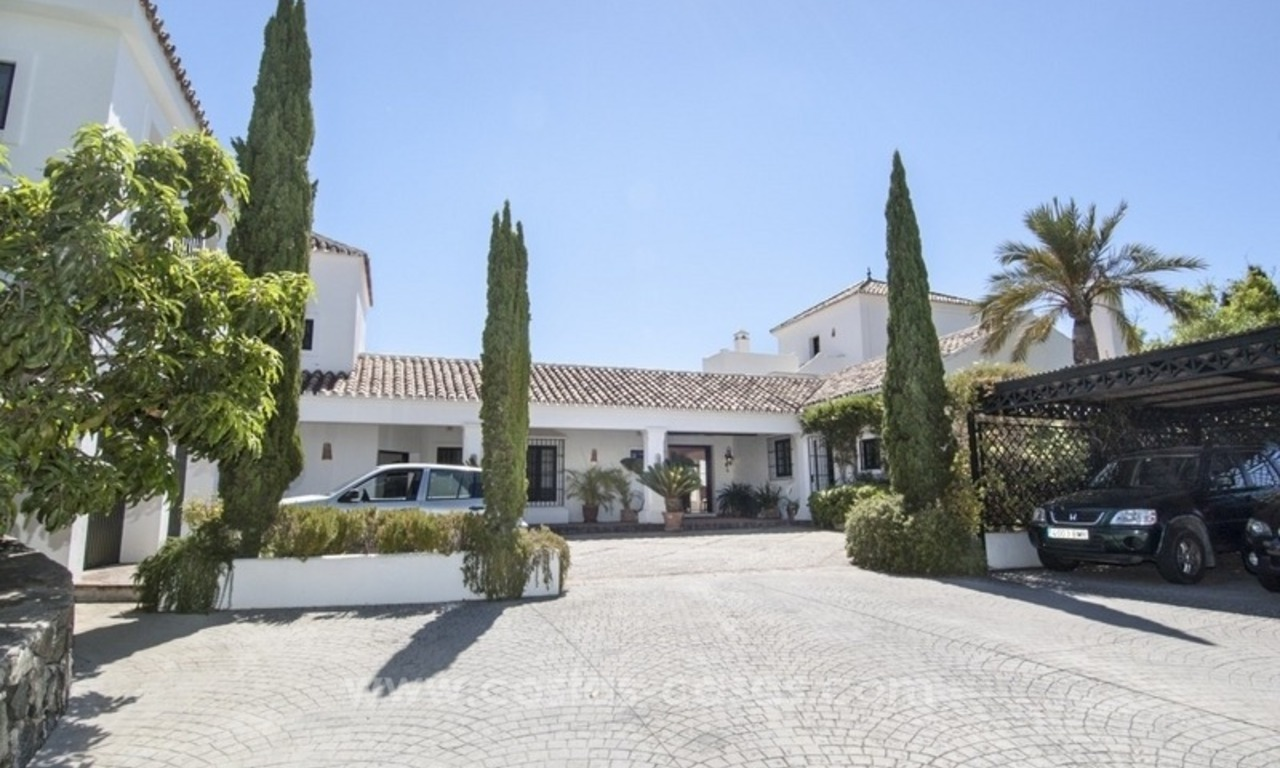 Superb and elegant Provence Charm villa for sale in exclusive El Madroñal, Benahavis - Marbella, with exceptional sea views 1