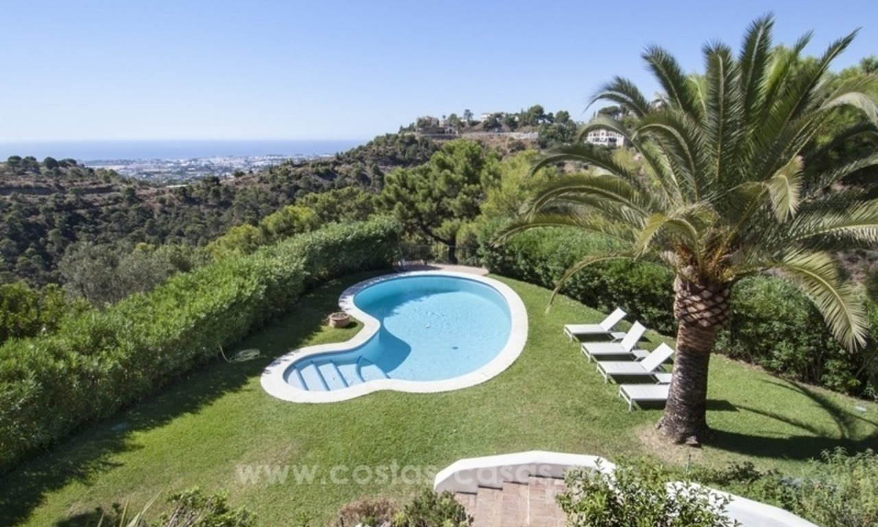 Superb and elegant Provence Charm villa for sale in exclusive El Madroñal, Benahavis - Marbella, with exceptional sea views 23