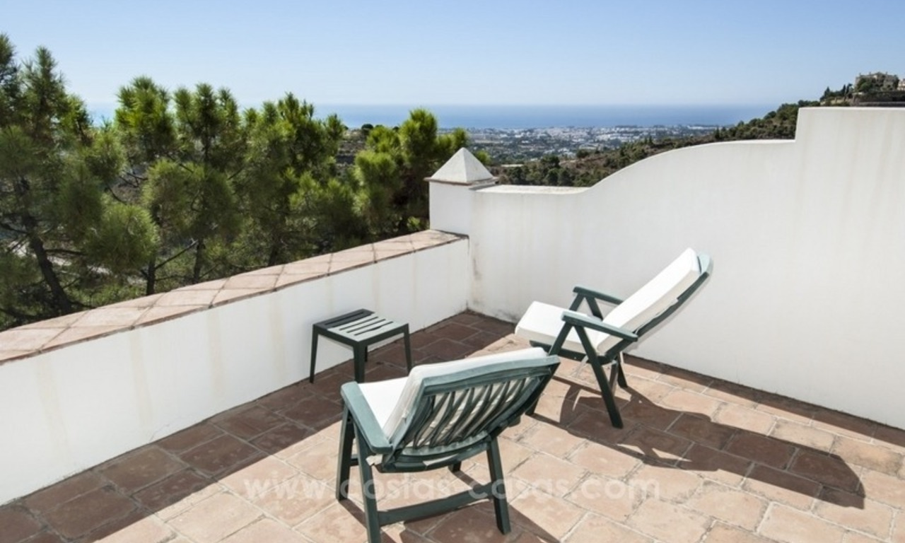 Superb and elegant Provence Charm villa for sale in exclusive El Madroñal, Benahavis - Marbella, with exceptional sea views 28