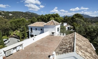 Superb and elegant Provence Charm villa for sale in exclusive El Madroñal, Benahavis - Marbella, with exceptional sea views 30