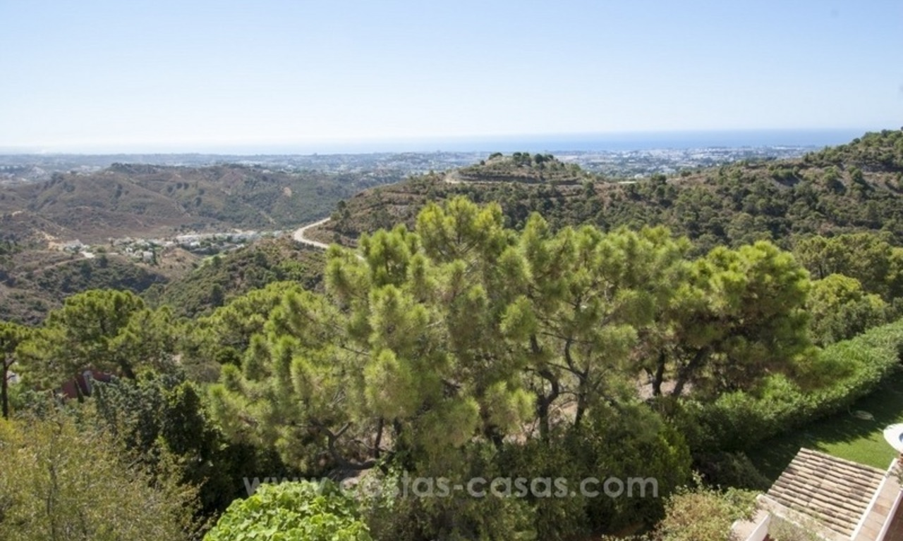 Superb and elegant Provence Charm villa for sale in exclusive El Madroñal, Benahavis - Marbella, with exceptional sea views 35