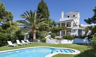 Superb and elegant Provence Charm villa for sale in exclusive El Madroñal, Benahavis - Marbella, with exceptional sea views 18