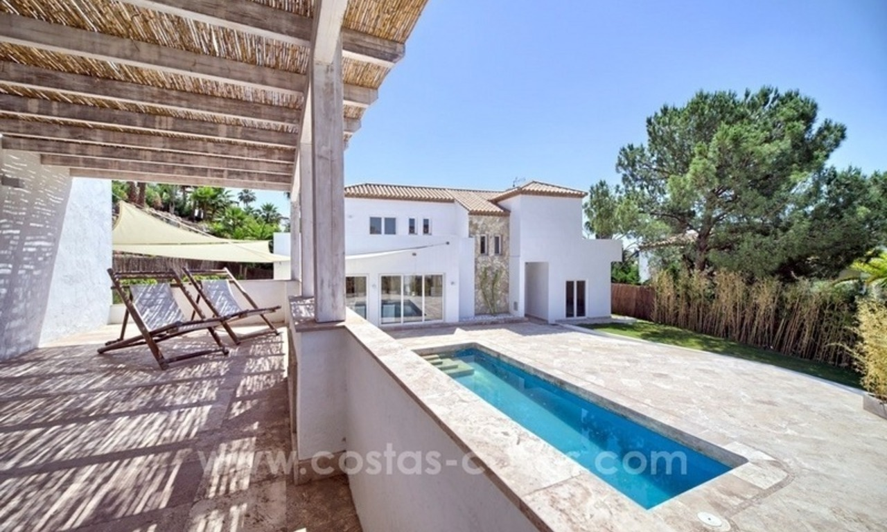 Contemporary villa for sale in a gated community in Nueva Andalucía – Marbella 1