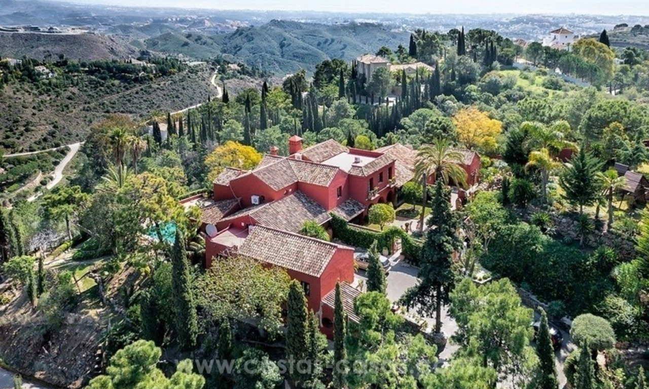 Classical country style villa for sale in El Madroñal, Benahavis - Marbella 1