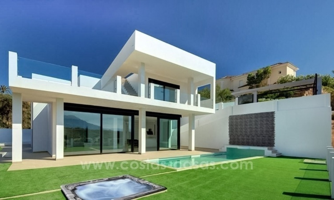 Newly built modern villa for sale in east Marbella 0