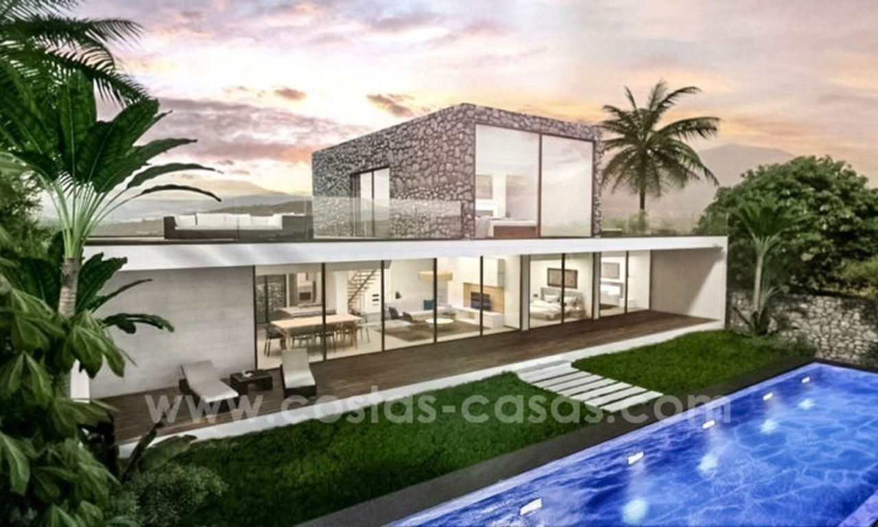 New modern villas for sale on the Costa del Sol, between Estepona and Casares 2