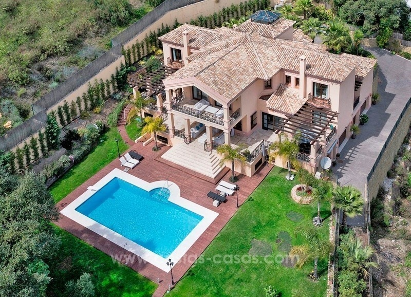 Newish grand villa for sale in El Madroñal, Benahavis - Marbella