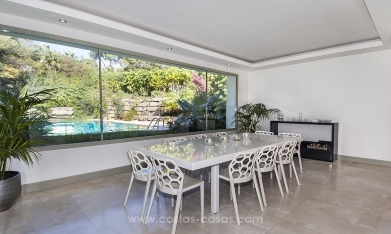 New frontline golf contemporary luxury villa for sale in East Marbella 20
