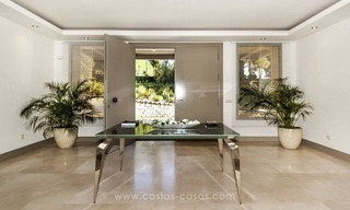New frontline golf contemporary luxury villa for sale in East Marbella 15