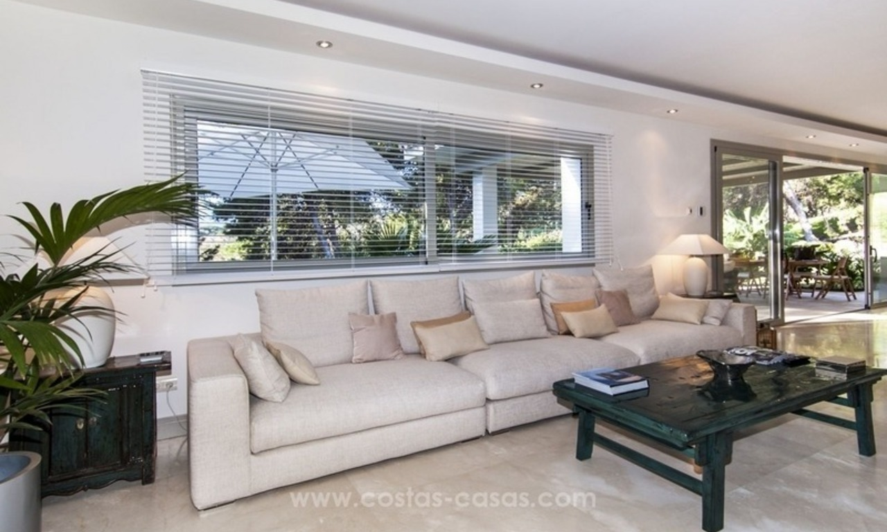 New frontline golf contemporary luxury villa for sale in East Marbella 18