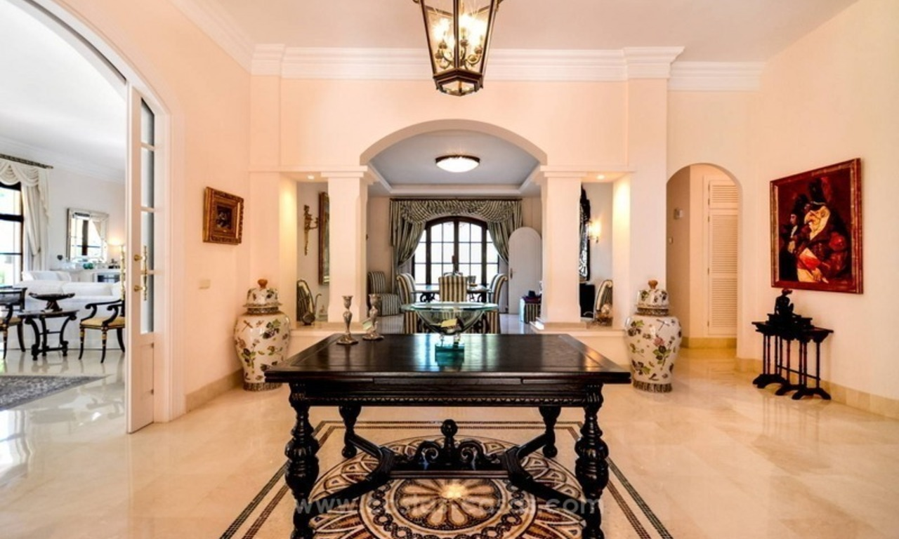 Luxury villa for sale, front line golf, in Marbella East 13