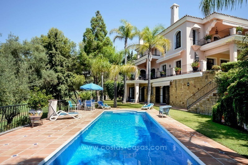 Luxury villa for sale, front line golf, in Marbella East