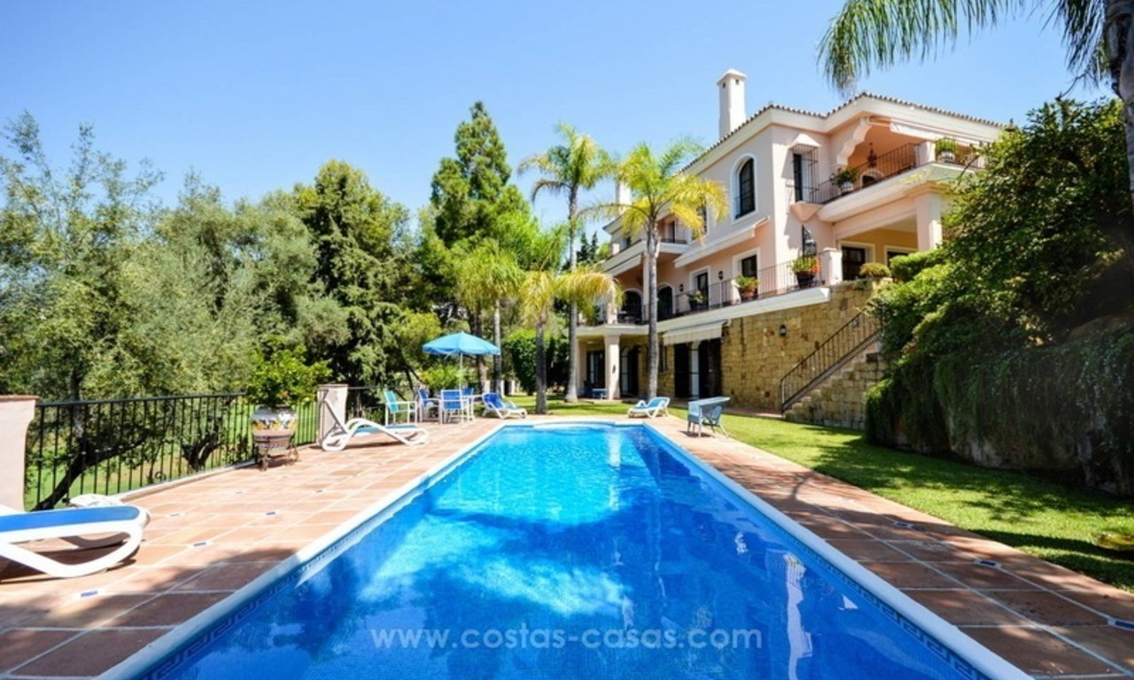 Luxury villa for sale, front line golf, in Marbella East 1