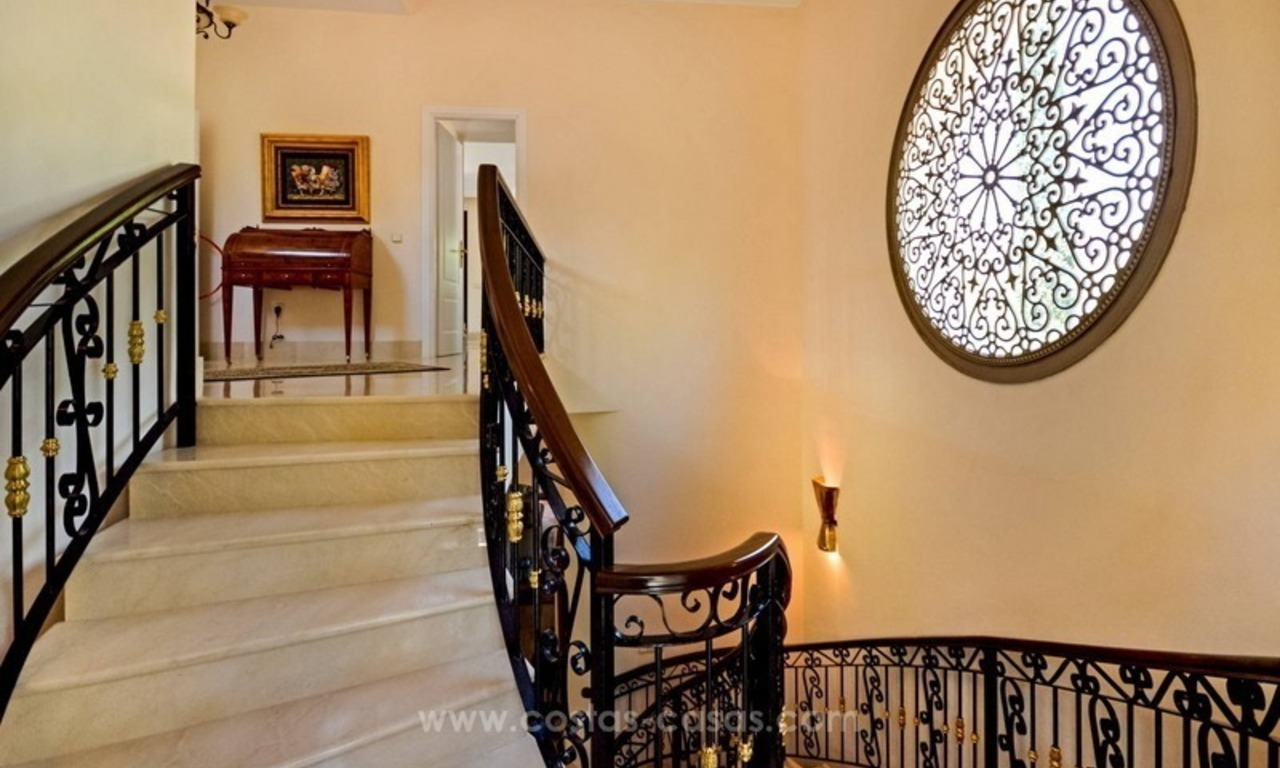Luxury villa for sale, front line golf, in Marbella East 34