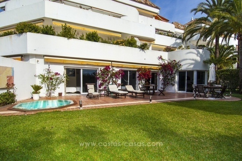 Spacious ground floor apartment for sale on The Golden Mile, Marbella