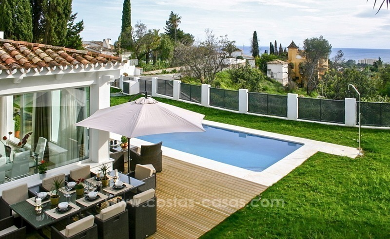 New modern contemporary villa with excellent panoramic sea views in Marbella 2