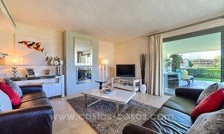 Modern luxury frontline golf ground floor apartment in a 5-star golf resort for sale in Benahavis - Marbella 4