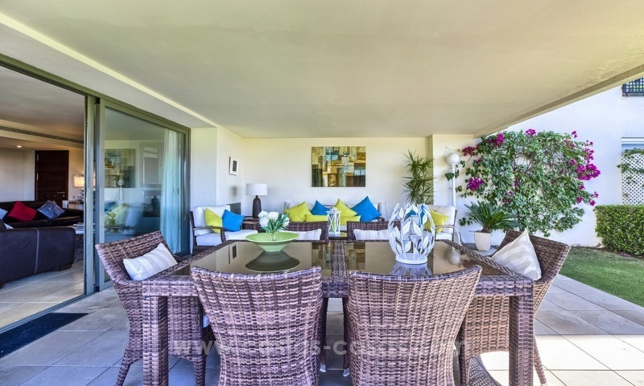 Modern luxury frontline golf ground floor apartment in a 5-star golf resort for sale in Benahavis - Marbella 2