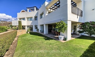 Modern luxury frontline golf ground floor apartment in a 5-star golf resort for sale in Benahavis - Marbella 0